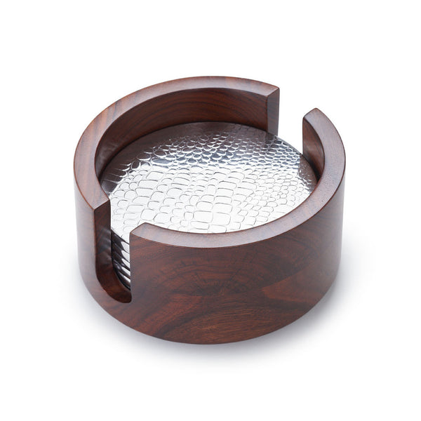 Mary Jurek Design Kenya Rosewood 6 pc Croc Coaster Set