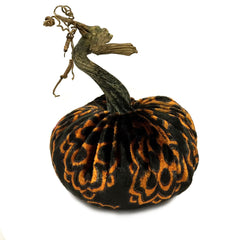 Plush Halloween Small Velvet Pumpkin