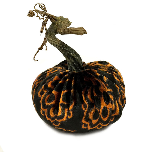 Plush Halloween Large Velvet Pumpkin