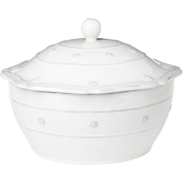 Juliska Berry and Thread Lg Covered Casserole Whitewash