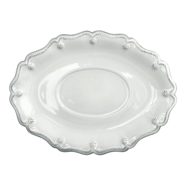 Juliska Berry and Thread Sauce Boat Stand Whitewash
