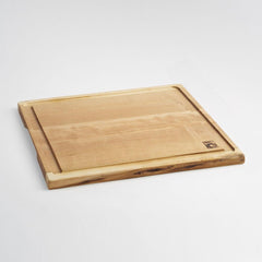Andrew Pearce Live Edge Medium Cherry Cutting Board with Juice Groove