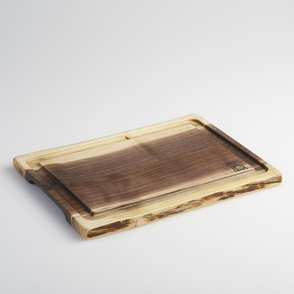 Andrew Pearce Live Edge Medium Black Walnut Cutting  Board with Juice Groove