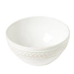 Juliska Le Panier Whitewash Cereal/Ice Cream Bowl