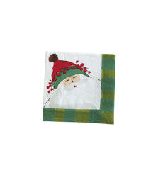 Vietri Old St. Nick Cocktail Napkin - Green