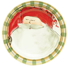 Vietri Old St. Nick Red Hat Dinner Plate