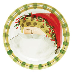 Vietri Old St. Nick Animal Hat Dinner Plate