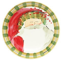 Vietri Old St. Nick Striped Hat Dinner Plate