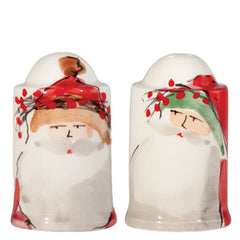 Vietri Old St. Nick Salt & Pepper Shaker Set