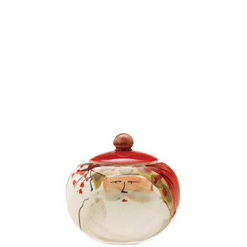 Vietri Old St. Nick Sugar Bowl