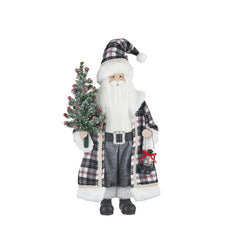 Santa with Plaid Coat & Hat