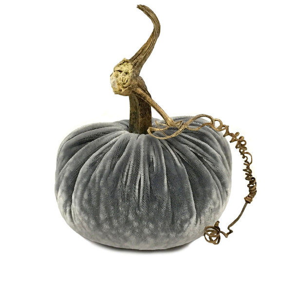 Plush Platinum Small Velvet Pumpkin