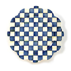 Mackenzie Childs Royal Check Petal Platter