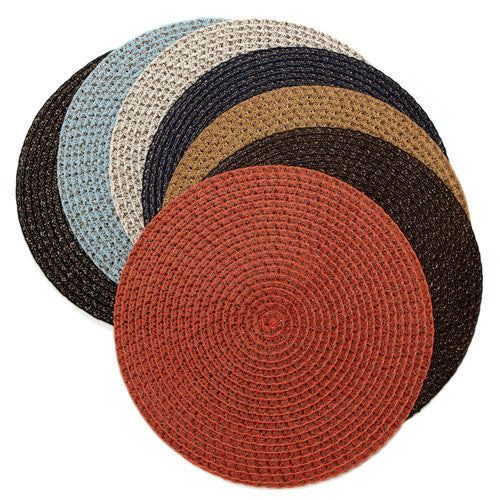 Deborah Rhodes Dark Colored Rattan Weave Placemats (set of 6)