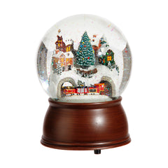 Wind Up Train & Town Scene Musical Snow Globe