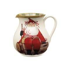 Vietri Old St. Nick Round Body Pitcher
