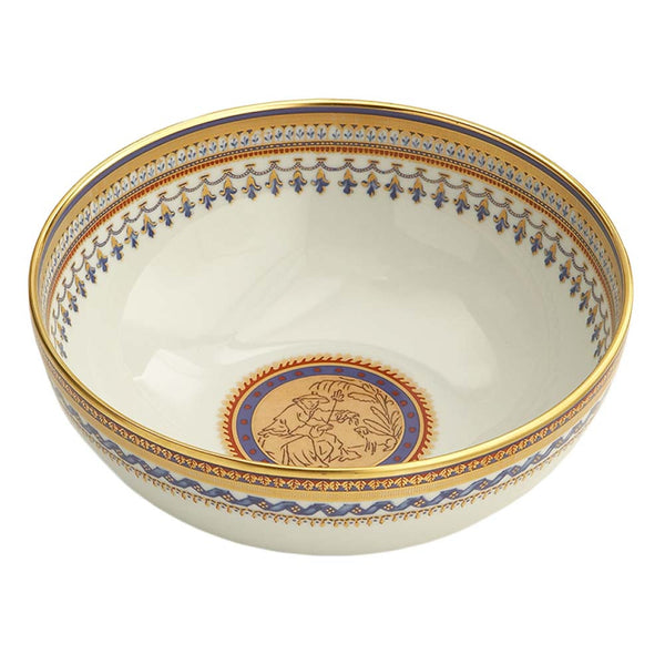 Mottahedeh Chinoise Blue Round Bowl