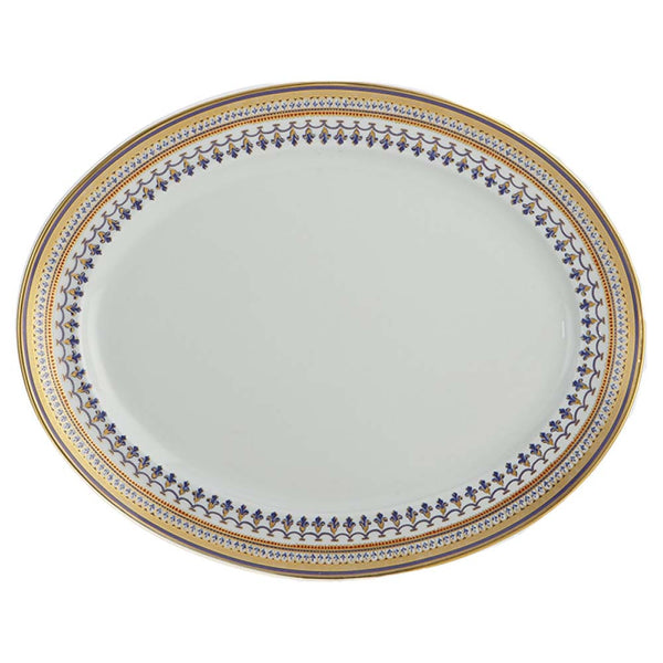"Mottahedeh Chinoise Blue 14"" Oval Platter"