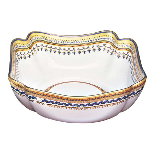 Mottahedeh Chinoise Blue Large Square Bowl