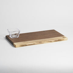 Andrew Pearce/ Simon Pearce Collaboration Black Walnut Board & Glass Bowl