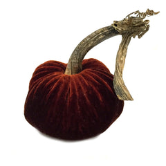 Plush Saffron Small Velvet Pumpkin