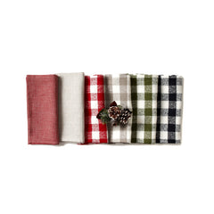 Deborah Rhodes Nordic Plaid Napkins (set of six)
