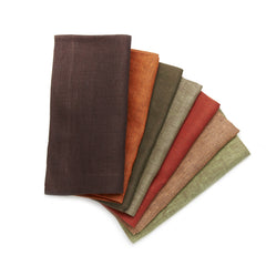 Deborah Rhodes Silk Road Pique Warm Colors Napkins (set of six)