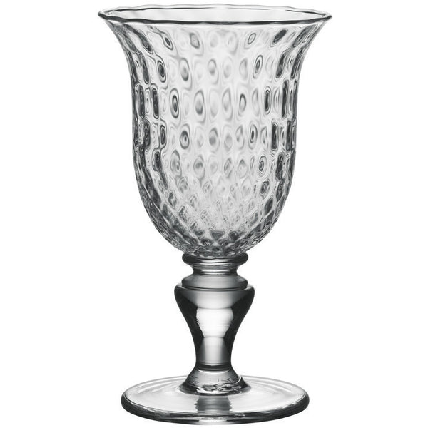 Simon Pearce Royalton Optic Goblet Glass