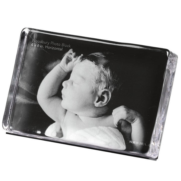 Simon Pearce Woodbury Square Horizontal Photo Block Gift Set - 4 x 6