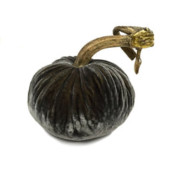 Plush Smokey Topaz Large Velvet Pumpkin