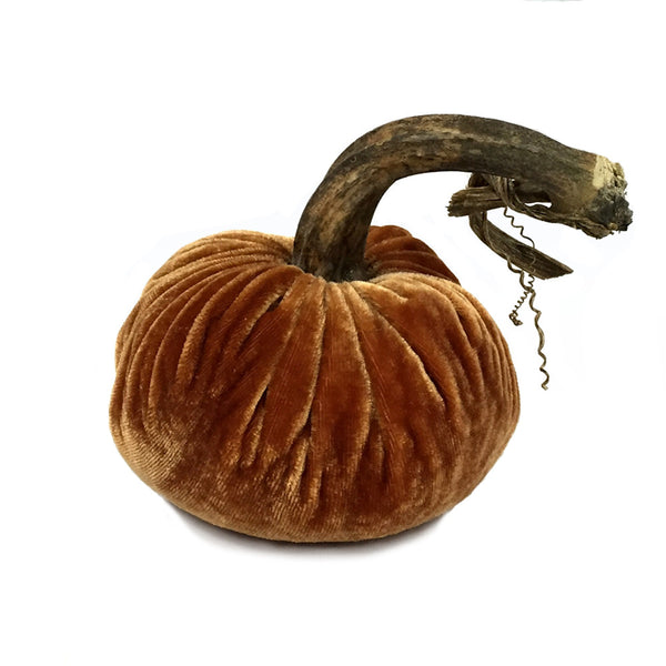 Plush Spice Large Velvet Pumpkin