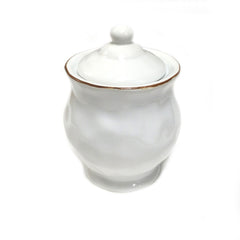 Skyros Cantaria White Covered Sugar Bowl