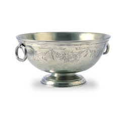Match Engraved, Deep, Footed Bowl