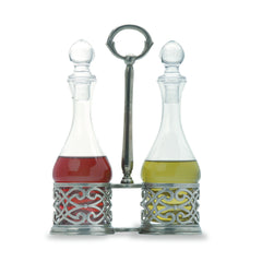 Match Cutwork Oil & Vinegar Set