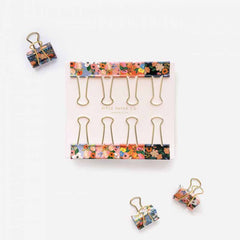 Rifle Paper Lively Floral Binder Clips