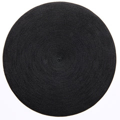 "Deborah Rhodes Black Round 15"" Placemat (Set of 6)"