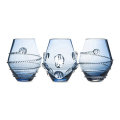 Juliska Assorted Mini Blue Vases Set/3