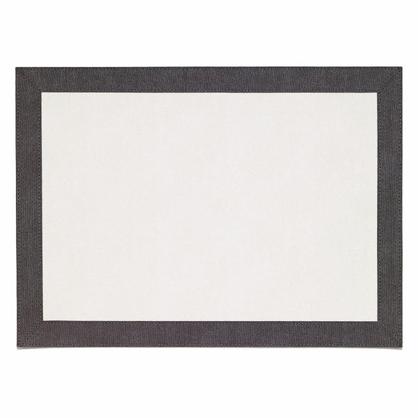 Bodrum Bordino Charcoal/Ivory Rectangle Placemat