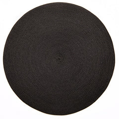"Deborah Rhodes Brown/Black Round 15"" Placemat (Set of 6)"