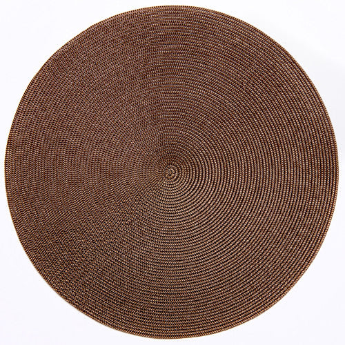 "Deborah Rhodes Brown/Burnt Round 15"" Placemat (Set of 6)"