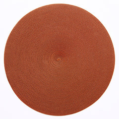 "Deborah Rhodes Brown/Copper Round 15"" Placemat (Set of 6)"