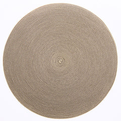 "Deborah Rhodes Brown/Cream Round 15"" Placemat (Set of 6)"