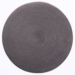 "Deborah Rhodes Brown/Grey Round 15"" Placemat (Set of 6)"