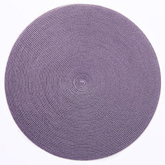 "Deborah Rhodes Brown/Lilac Round 15"" Placemat (Set of 6)"
