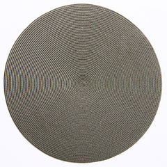 "Deborah Rhodes Brown/Moss Round 15"" Placemat (Set of 6)"