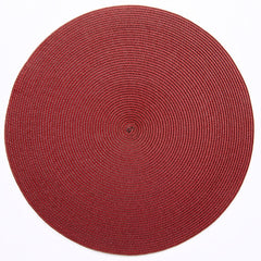 "Deborah Rhodes Brown/Red Round 15"" Placemat (Set of 6)"
