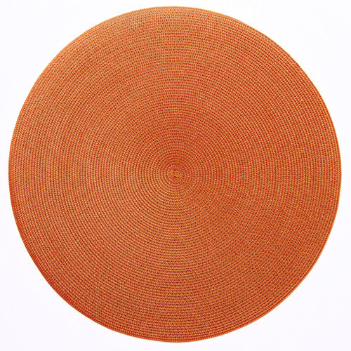 "Deborah Rhodes Burnt/Orange Round 15"" Placemat (Set of 6)"