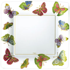 Caspari Jeweled Butterflies Square Plate