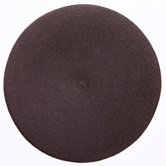 "Deborah Rhodes Chocolate Round 15"" Placemat (Set of 6)"