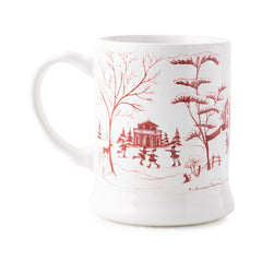 "Juliska Country Estate Winter Frolic ""Mr. & Mrs. Clause"" Ruby Mug"